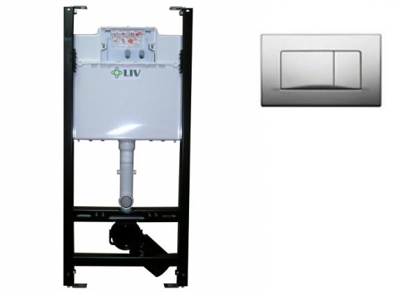 Cadru metalic universal pentru vas wc, clapeta inclusa LIV 0