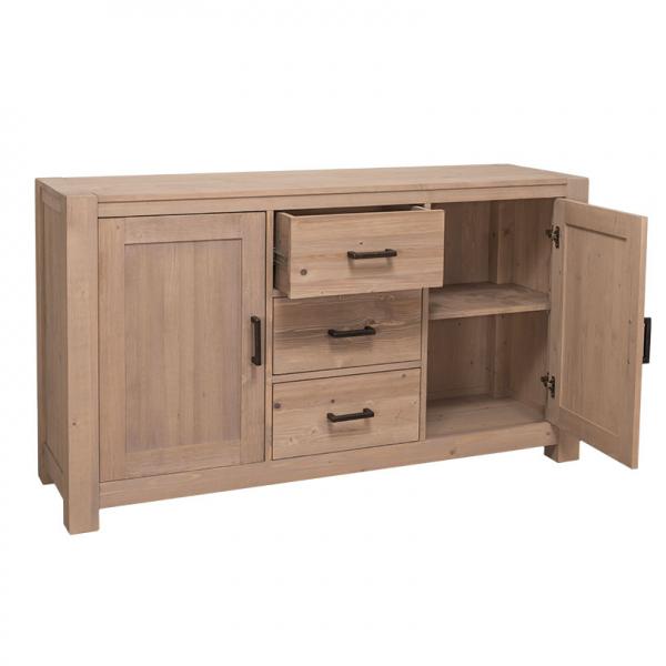Comoda hol din lemn masiv cu 2 usi si 3 sertare Cube 1