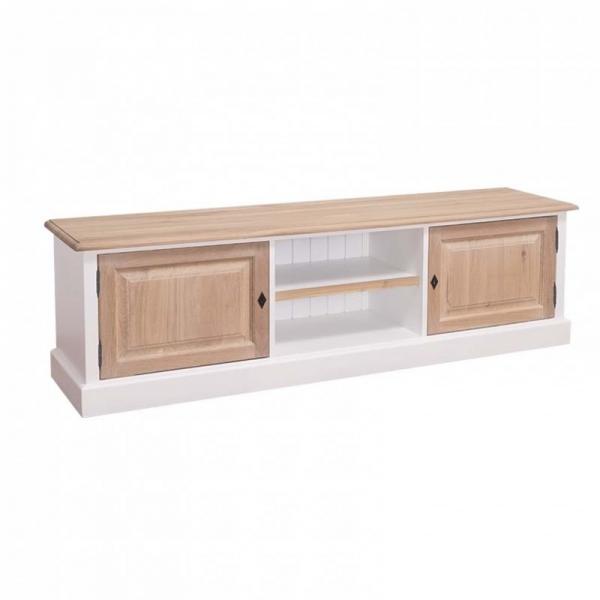 Comoda TV din lemn masiv pentru living si dormitor cu sertare si usi 0