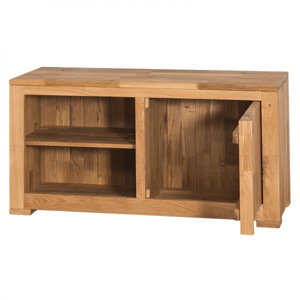 Comoda TV lemn stejar cu o usa 1