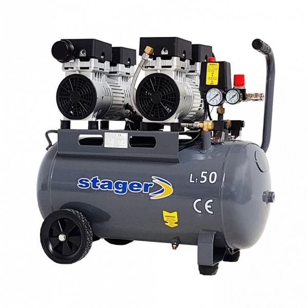 Compresor aer 50L Stager HM50JW-0.75x2 [1]