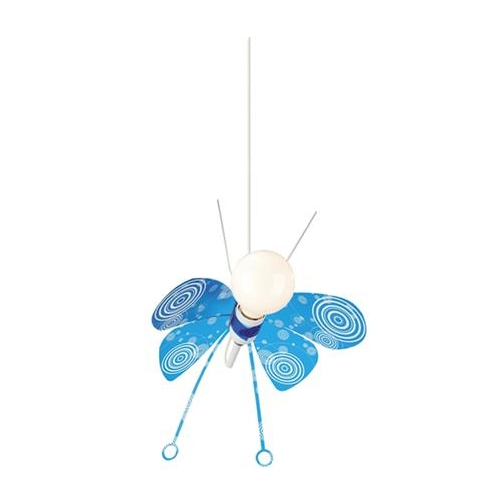 Lustra camera copii culoare albastra, Butterfly 0