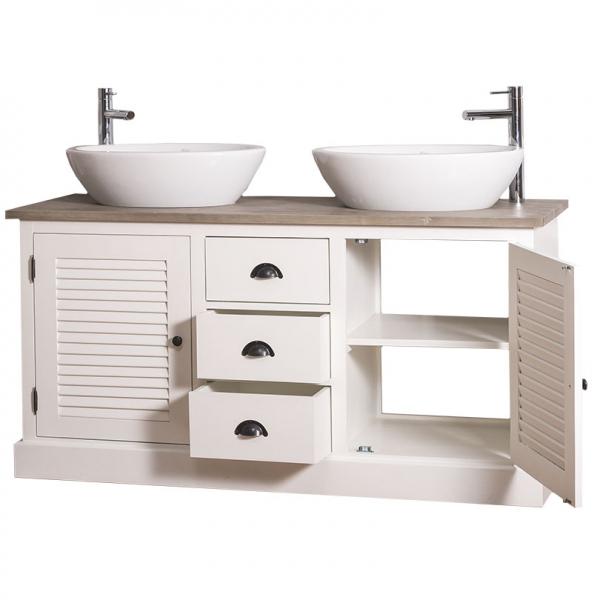 Dulap baie din lemn masiv cu 2 usi Shutter 1