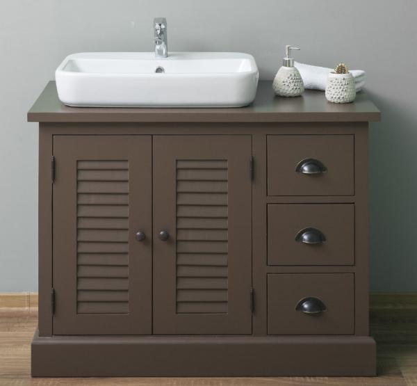 Dulap baie din lemn masiv cu 2 usi si 3 sertare Shutter 0