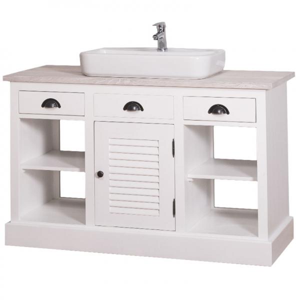 Dulap baie din lemn masiv cu o usa si 3 sertare Shutter 0