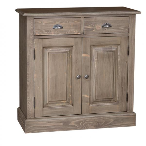 Dulap hol din lemn masiv cu 2 usi si 2 sertare 0