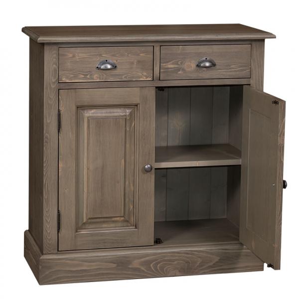 Dulap hol din lemn masiv cu 2 usi si 2 sertare 1