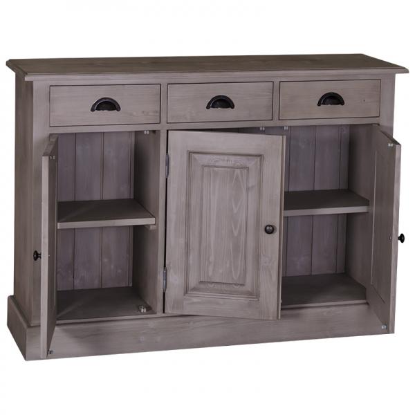Dulap hol din lemn masiv cu 3 usi si 3 sertare 1