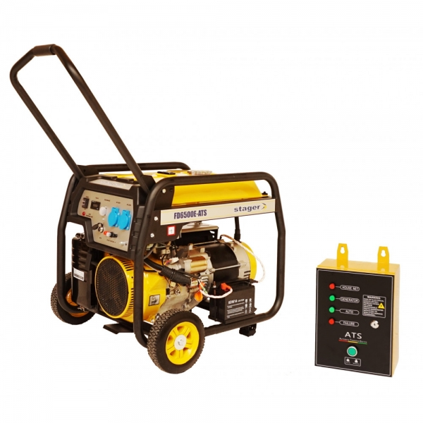 Generator curent benzina Stager FD 6500E si ATS 1