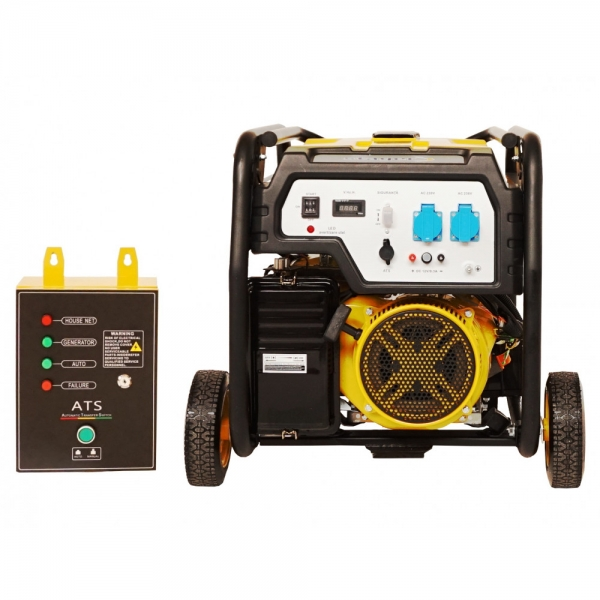 Generator curent benzina Stager FD 6500E si ATS 2
