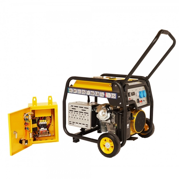 Generator curent benzina Stager FD 6500E si ATS 0