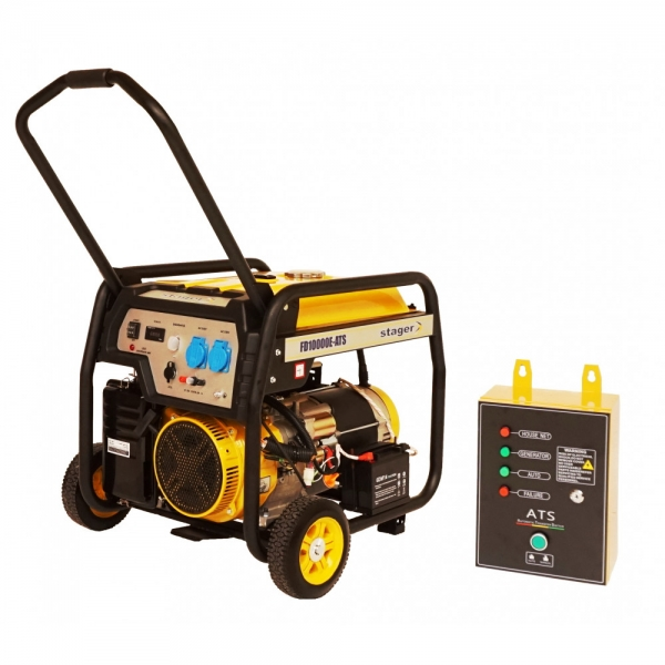 Generator curent benzina Stager FD 10000E si ATS 1