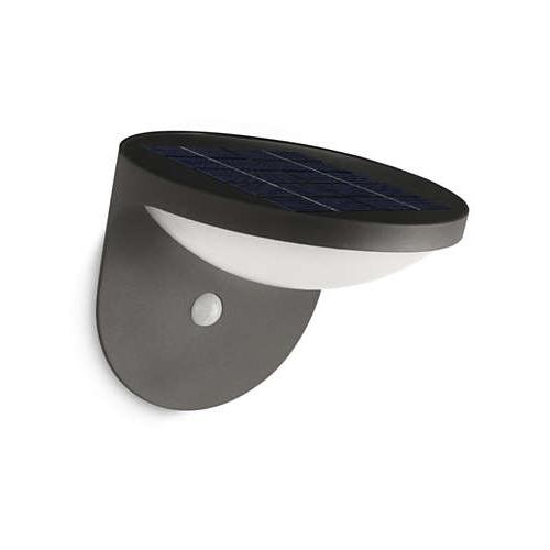 Aplica led solara cu senzor culoare antracit, Dusk 0