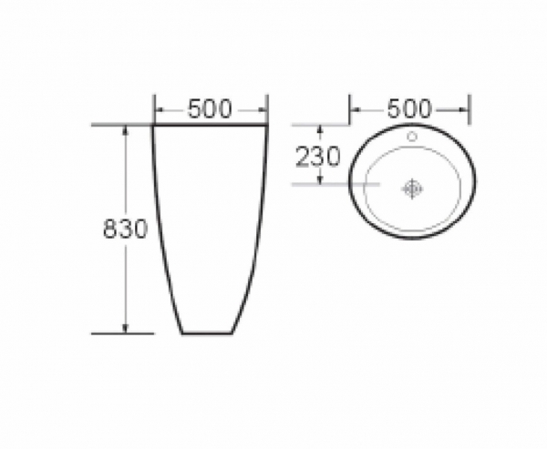 Lavoar freestanding rotund Rondo Dalet 6