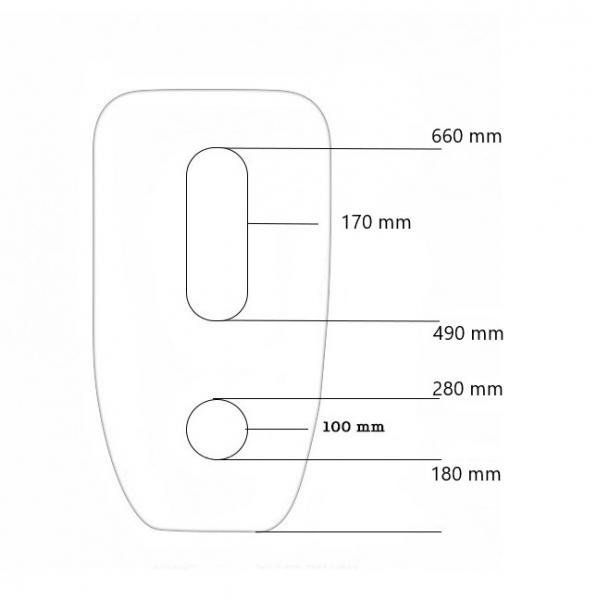 Lavoar freestanding oval Cocon Foglia [5]