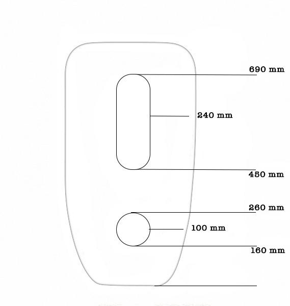 Lavoar freestanding oval Foglia 2