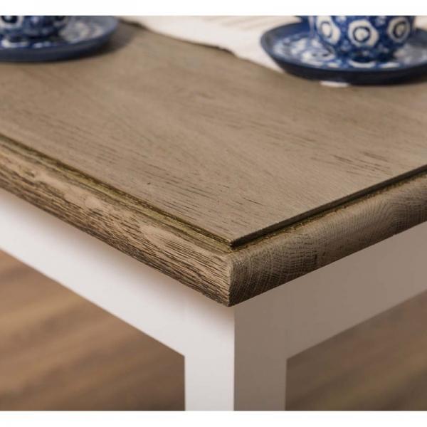 Masa cafea patrata din lemn masiv, blat stejar, finisaj dublu vopsit, Roxi 1