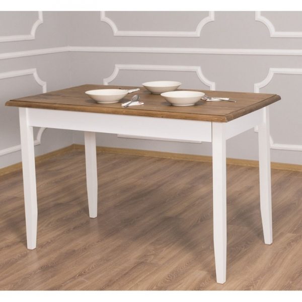 Masa din lemn cu finisaj dublu vopsit, Geo 1