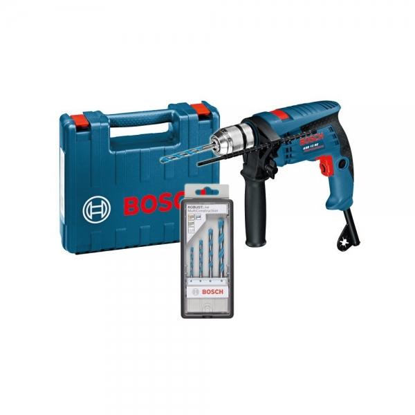 Bormasina Bosch GSB 13 RE si set 4 burghie MultiConstruction 0