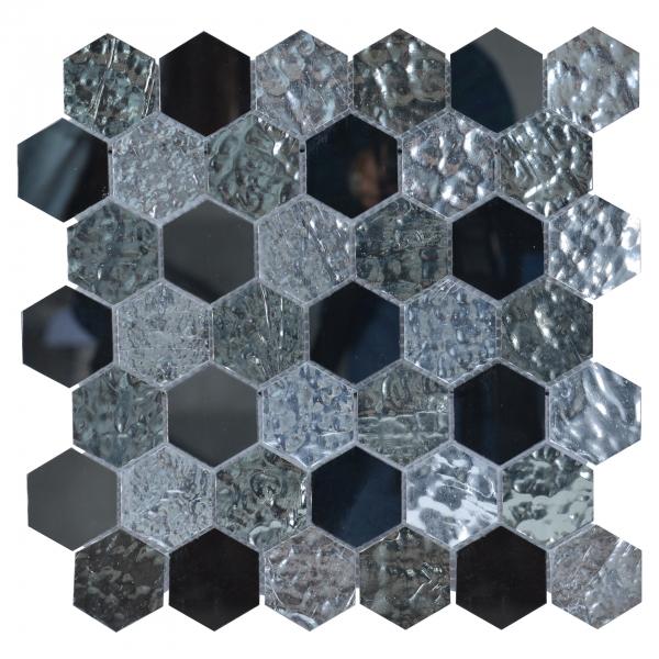 Mozaic sticla hexagonala, 30,5x30 cm 0