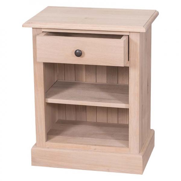 Noptiera dormitor lemn masiv cu un sertar 1