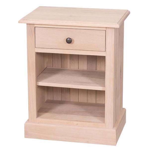 Noptiera dormitor lemn masiv cu un sertar 0