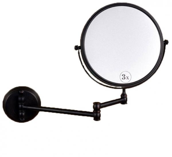 Oglinda cosmetica baie, culoare negru petrol , Foglia 0