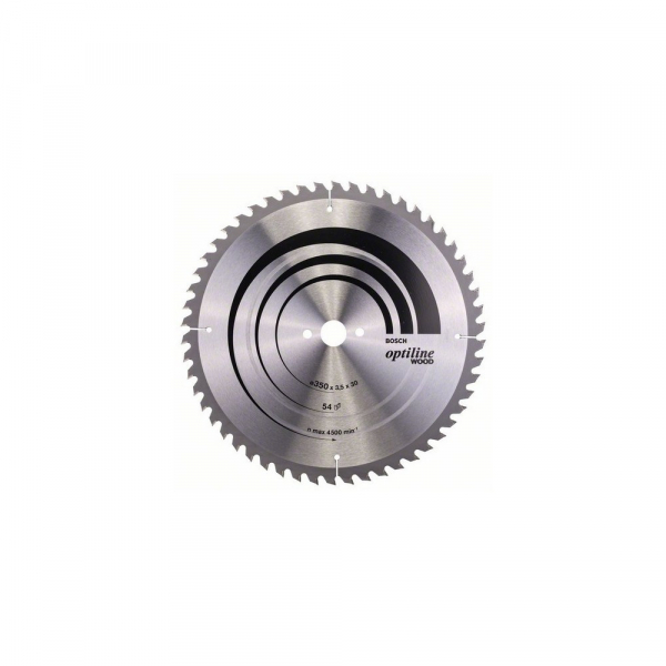 Panza fierastrau circular 350 mm 54 dinti Optiline Wood [0]