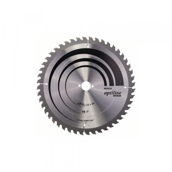 Panza fierastrau circular 315 mm 48 dinti Optiline Wood [0]