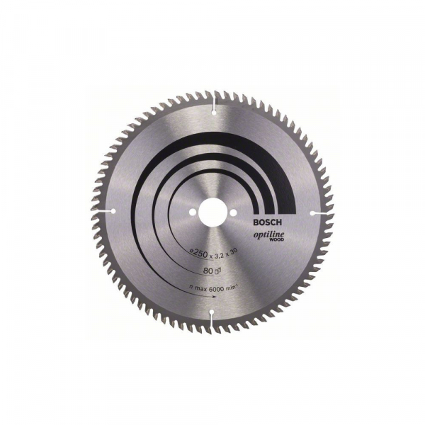 Panza fierastrau circular 250 mm 80 dinti Optiline Wood [0]