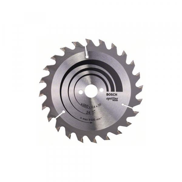 Panza fierastrau circular 160 mm 24 dinti Optiline Wood 0