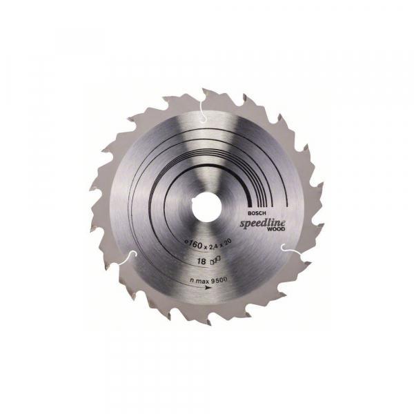 Panza fierastrau circular 160 mm 18 dinti Speedline Wood [0]