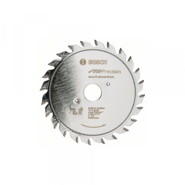 Panza fierastrau circular pretaiere laminate 125 mm pentru panel [0]
