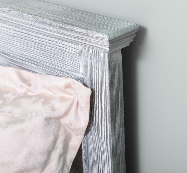 Pat dormitor matrimonial lemn masiv, finisaj periat adanc 3