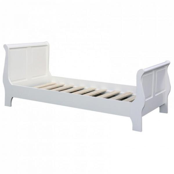 Pat dormitor lemn masiv alb, July 0