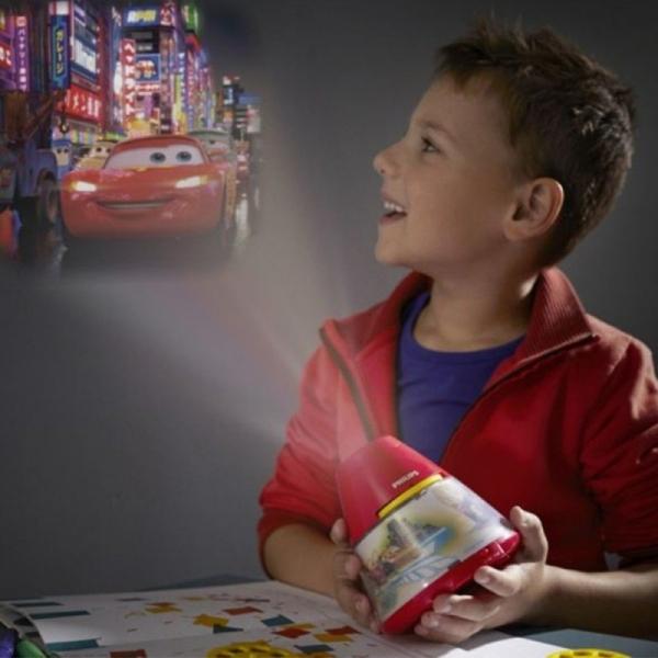 Proiector și lampă de veghe 2 în 1,Disney Cars 3xLED/0,1W si 0,3W IP20, Philips 1