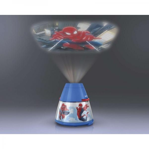 Proiector și lampă de veghe 2 în 1, Spiderman 3xLED/0,1W si 0,3W, IP20 2
