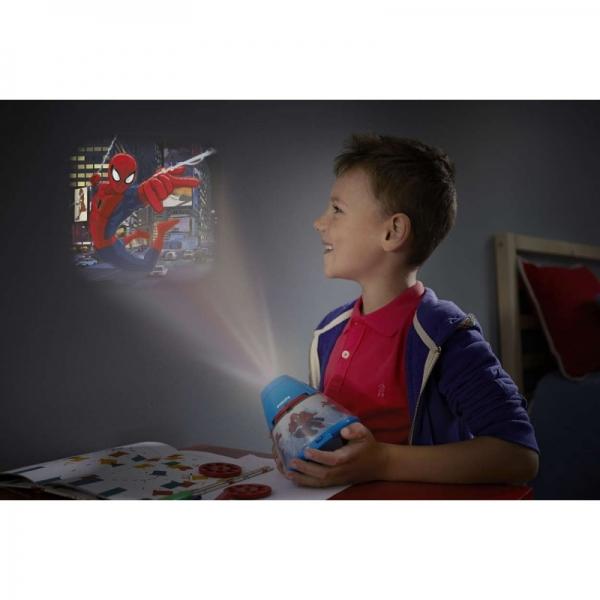 Proiector și lampă de veghe 2 în 1, Spiderman 3xLED/0,1W si 0,3W, IP20 1