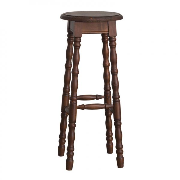 Scaun bar lemn masiv cu picioare strunjite 0
