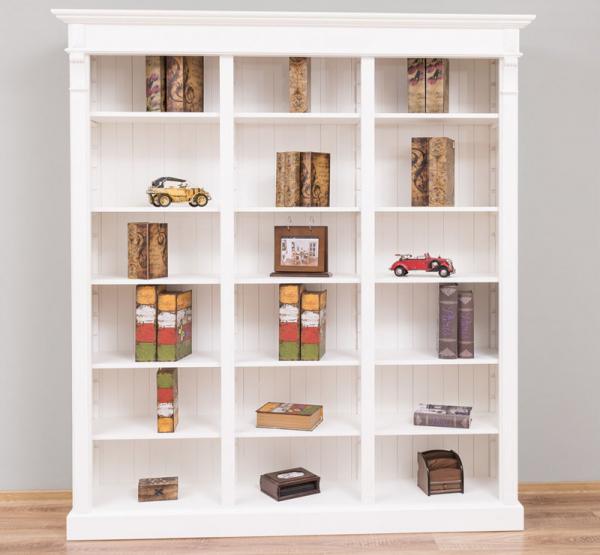 Biblioteca living lemn masiv, finisaj vopsit 0