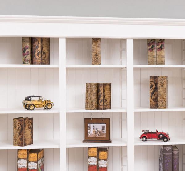 Biblioteca living lemn masiv, finisaj vopsit 3