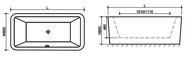 Cada baie freestanding Square 2