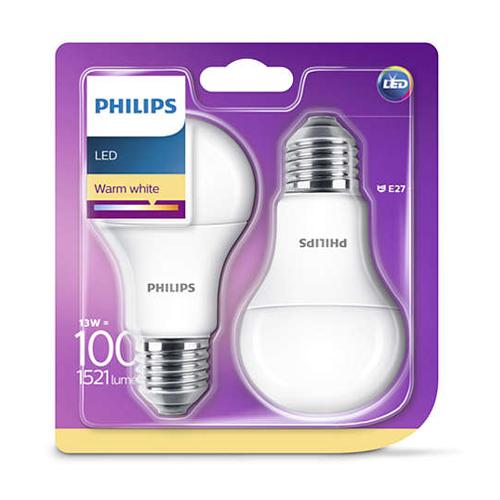 Set 2 becuri led lumina calda Philips, E27, 100W, 1521 lumeni [0]