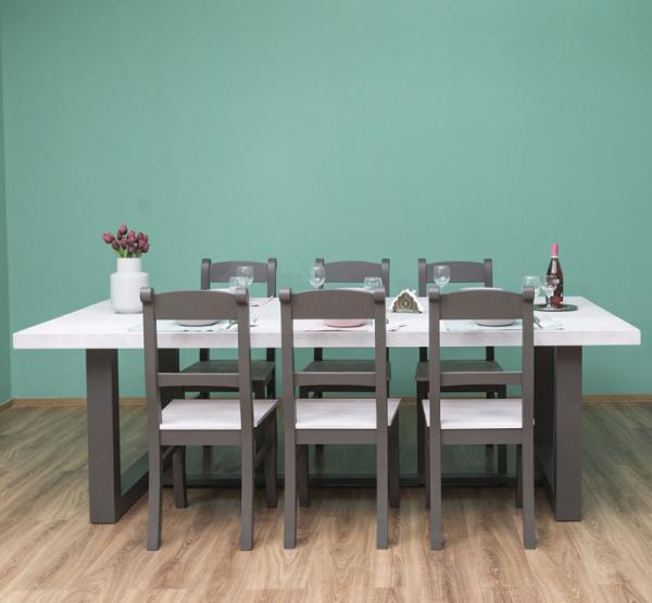 Set masa cu 6 scaune, finisaj dublu vopsit 0
