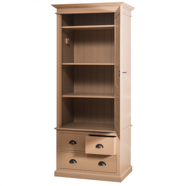 Sifonier din lemn masiv cu o usa si 3 sertare 1