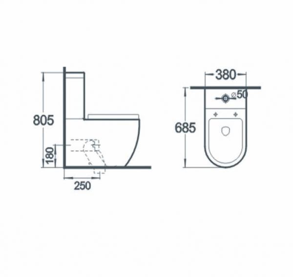 Vas wc Rondo duobloc cu capac soft close inclus 1