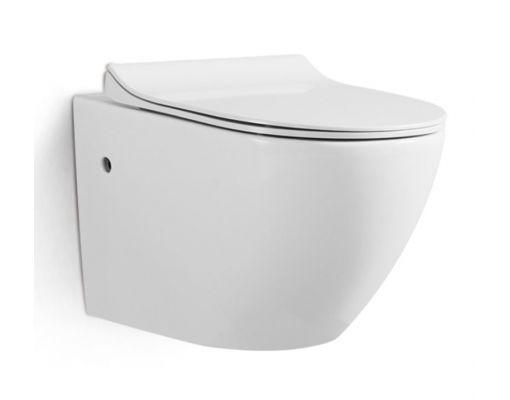 Vas wc suspendat Rimless cu capac soft close inclus 0