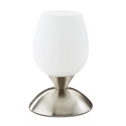 Veioza dormitor abajur sticla alb, Cup 0