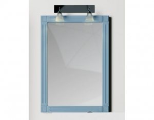 Mobilier baie albastru din lemn masiv tei opac si blat solid surface3