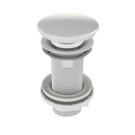 Ventil chiuveta baie cu capac ceramic alb fara preaplin